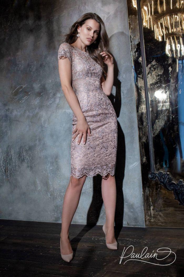 Облегающее силуэтное платье из кружевного полотна с витиеватым цветочным узором СТЕФАНА