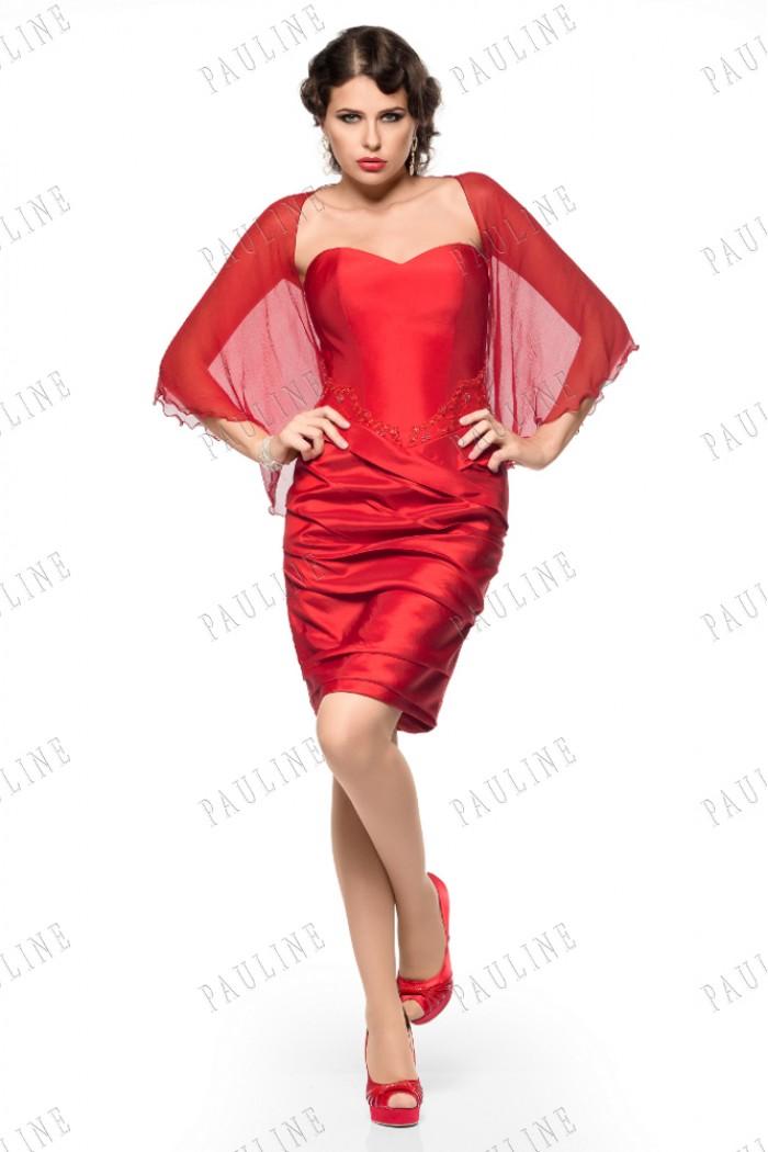 Коктейльное красное платье КЮРАСАО