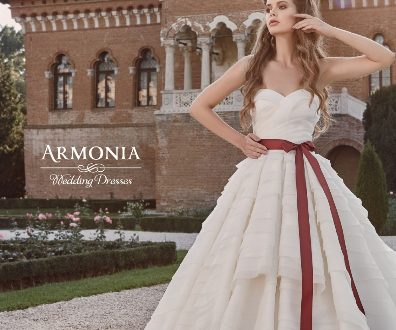 Пышное свадебное платье с каскадной юбкой КОРНЕЛИЯ