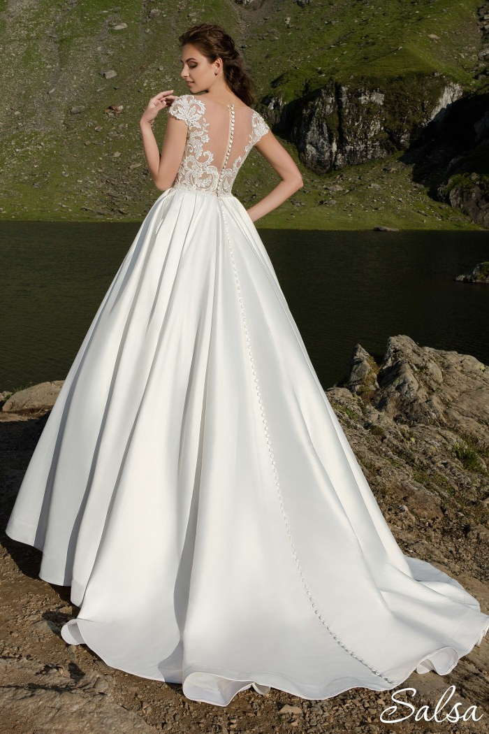 Кружевное свадебное платье с роскошным корсетом САЛЬСА
