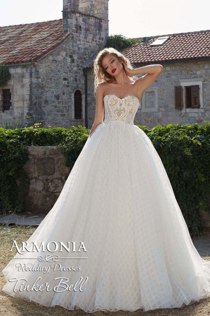 Невероятно красивое свадебное платье с пышной юбкой ТИНКИ