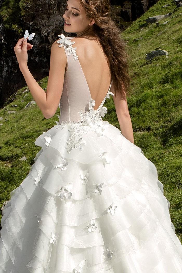Ультрамодное пышное белое свадебное платье ВАЛЬС