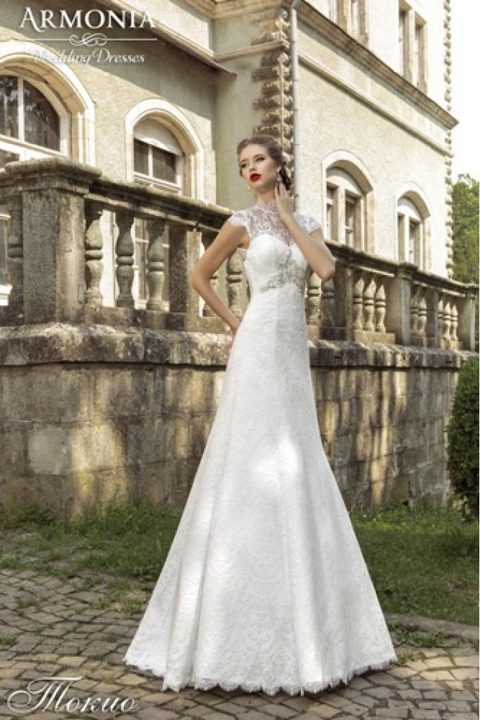 Очень красивое кружевное свадебное платье ТОКИО