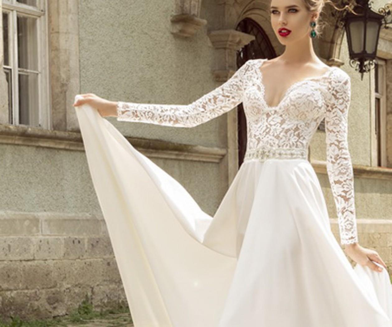 Свадебное платье с пышной юбкой из шелка ПАЛЕРМО