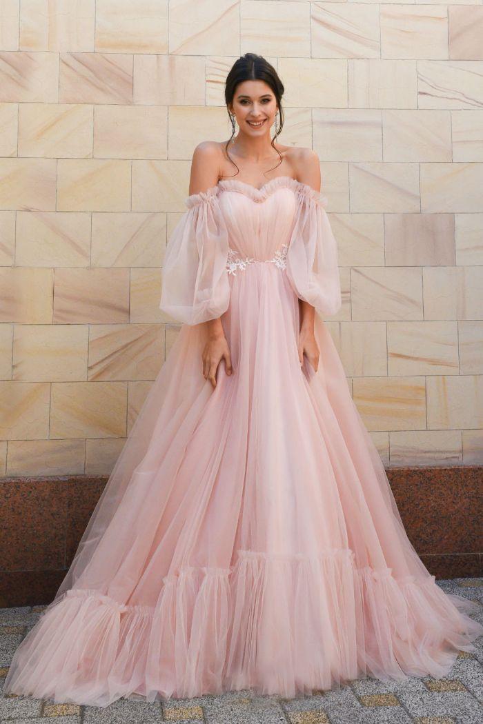 Пышное свадебное платье в стиле Бохо-шик ЛИНДА