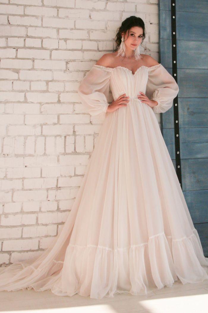 Чудесное свадебное платье в стиле Лофт ЛИНДА 2