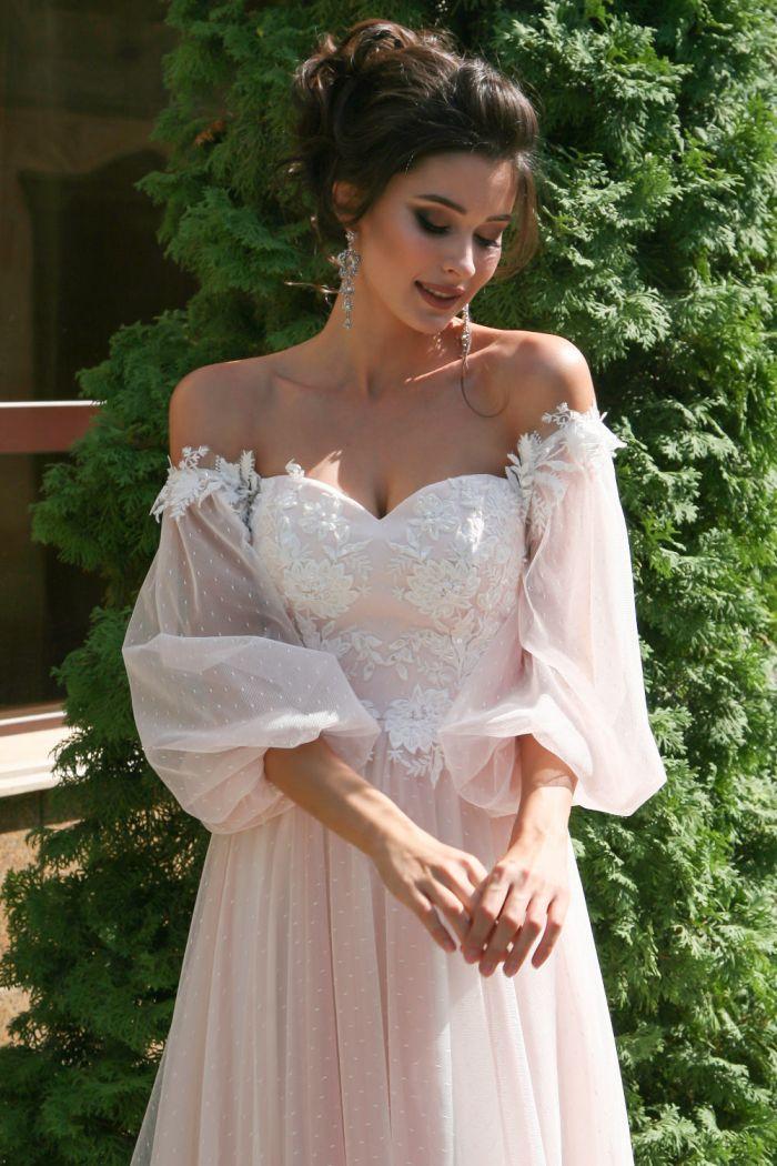 Необычное свадебное платье цвета утренней зари НОЭЛЬ