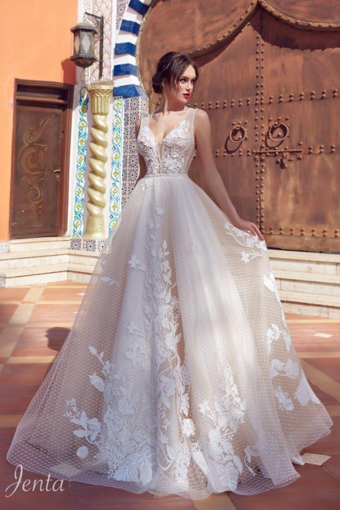 Оригинальное свадебное платье для чувственный образ ДЖЕНТА