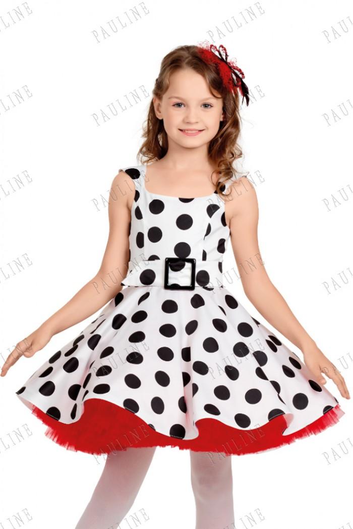Детское платье в горох с пышной юбкой КВИНСЕНТЕ