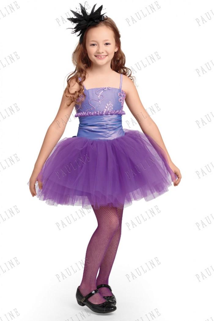 Платье для девочки сиреневого цвета с пышной юбкой МАТЕ