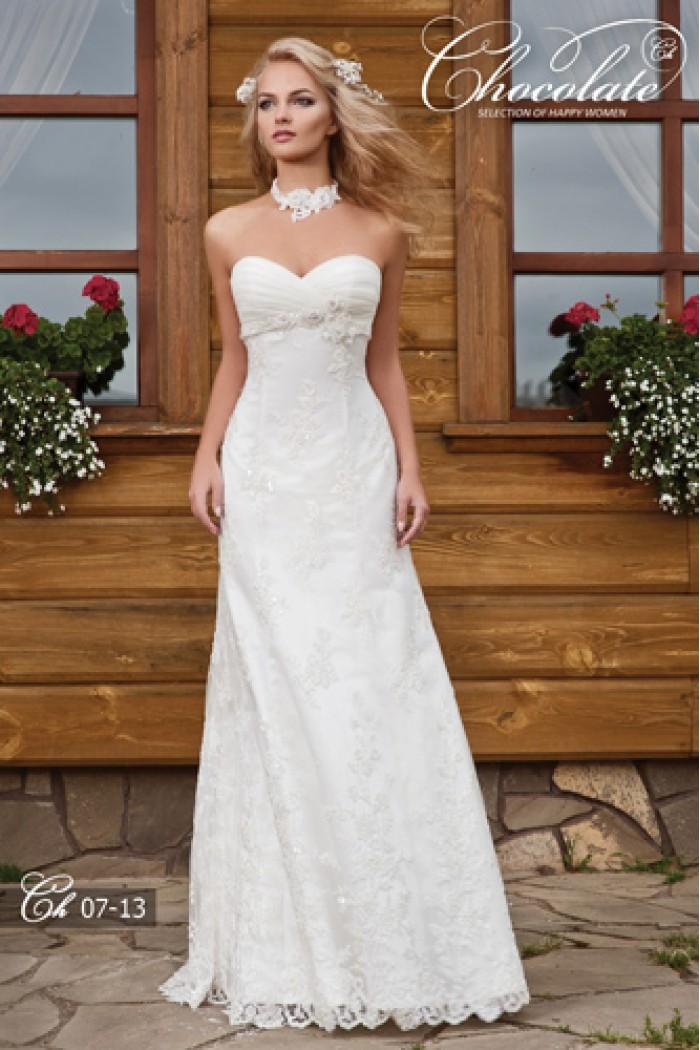 Свадебное платье с завышенной линией талии Chocolate