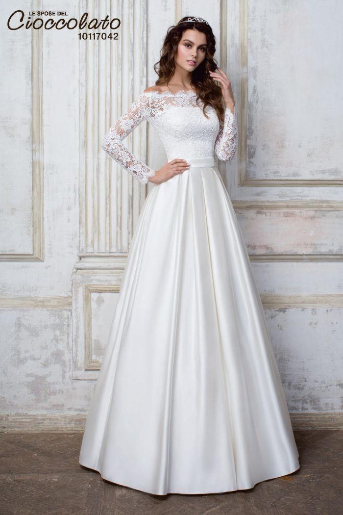 Свадебное платье с кружевным болеро CIOCCOLATO #42