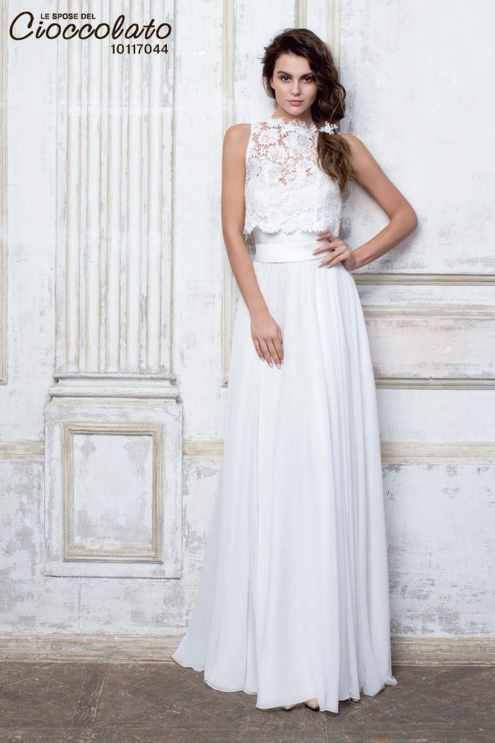 Прямое свадебное платье в стиле хиппи CIOCCOLATO #44