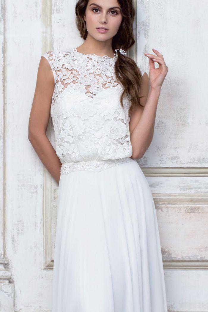 Прямое свадебное платье в стиле хиппи CIOCCOLATO #45