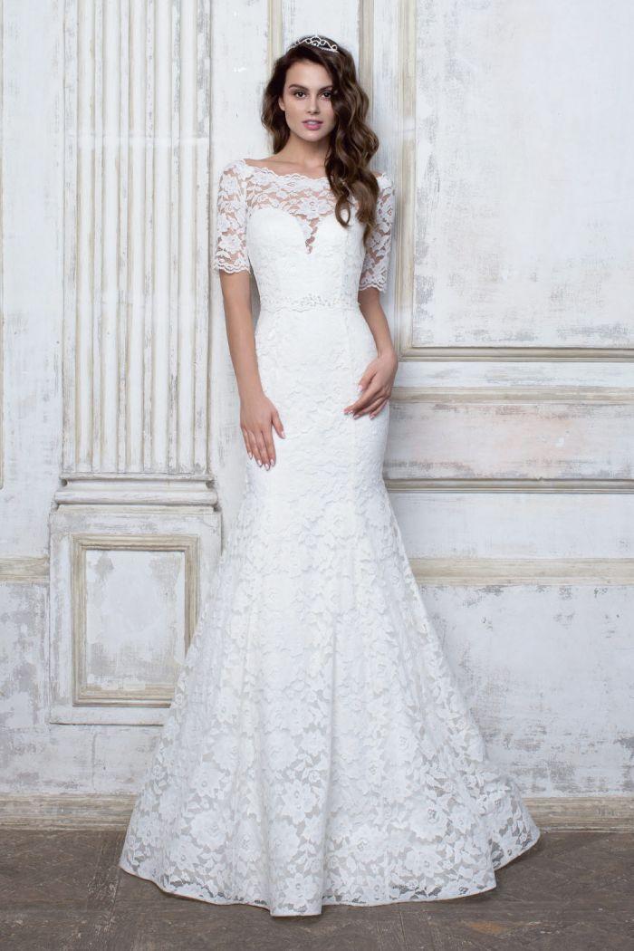 Облегающее свадебное платье силуэта русалка CIOCCOLATO #51