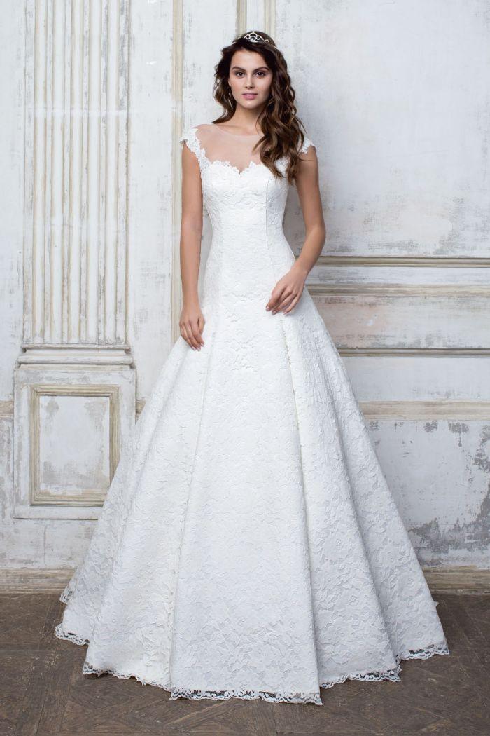 Кружевное свадебное платье А силуэта CIOCCOLATO #56