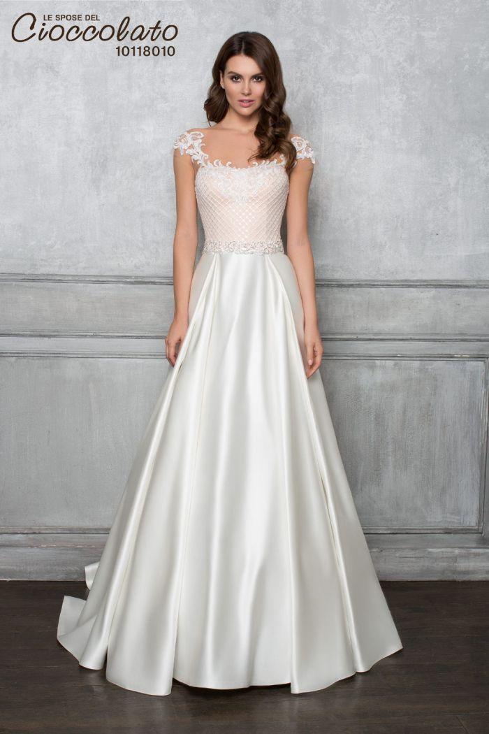 Элегантное свадебное платье со спущенными плечиками CIOCCOLATO #8010