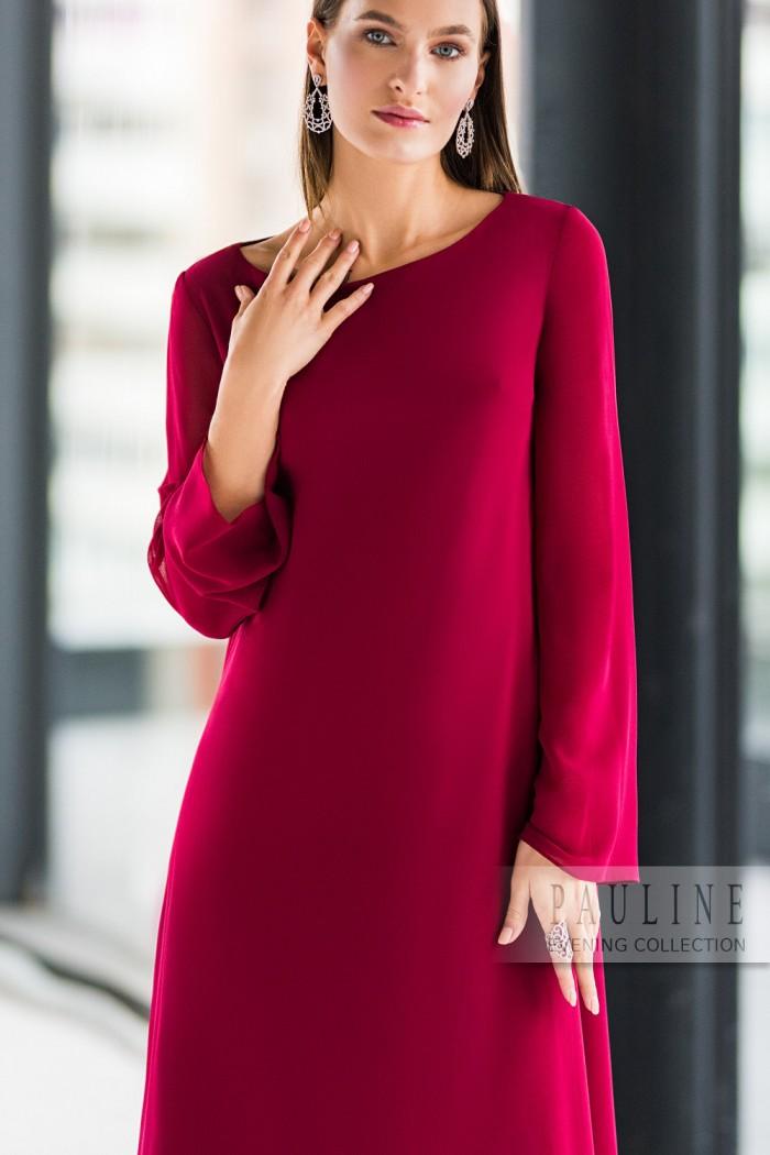 Минималистичное вечернее платье из струящейся ткани АДМИРА