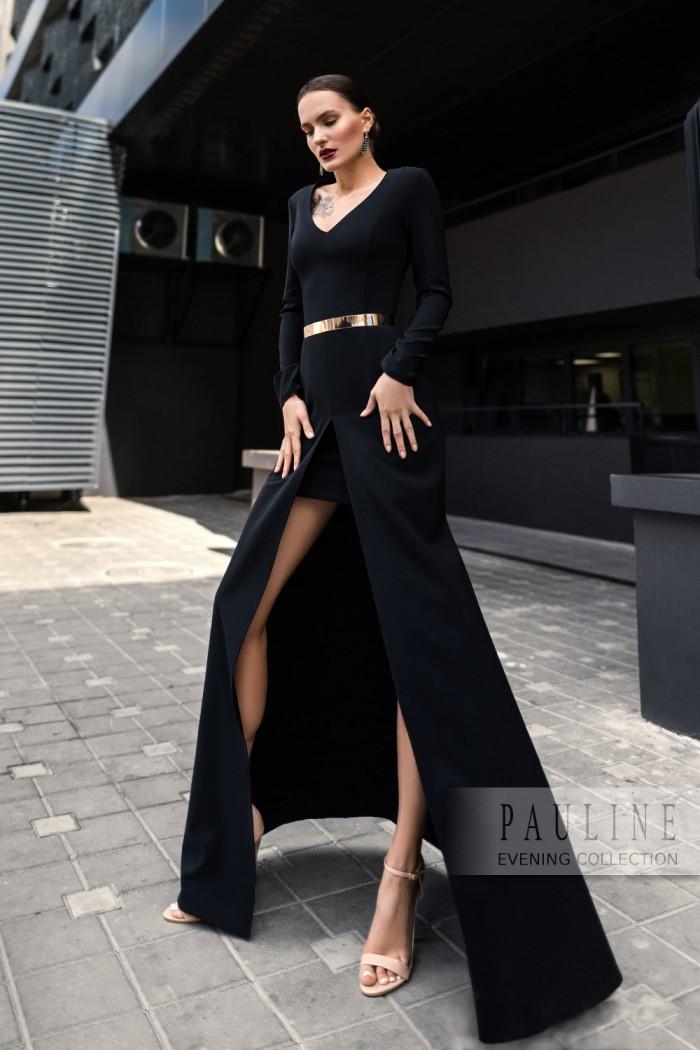 Маленькое черное платье с длинной юбкой СЕРСЕЯ