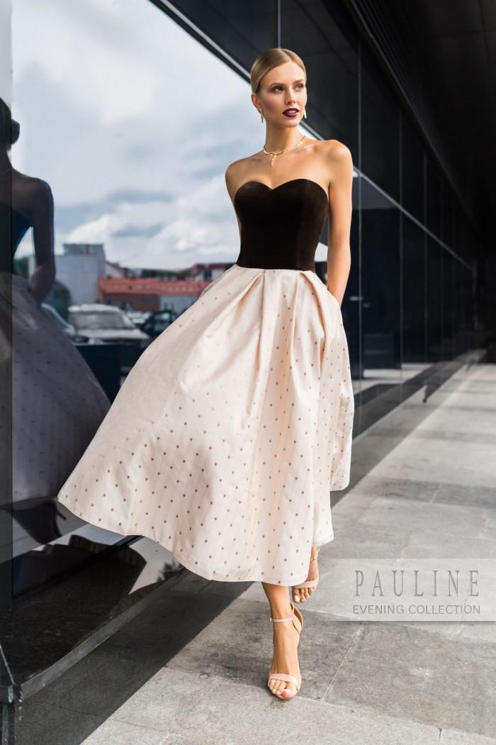 Женственное вечернее платье в стиле 50-х ГРАФИКА Викки