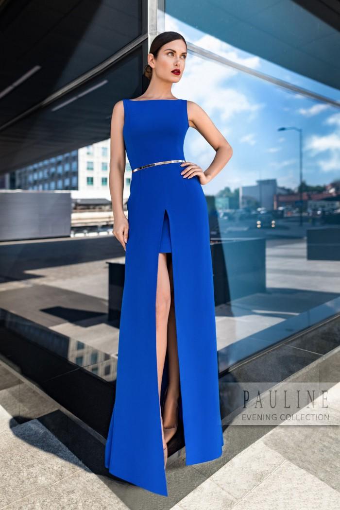 Вечернее платье макси с высоким разрезом ЛАРСОН