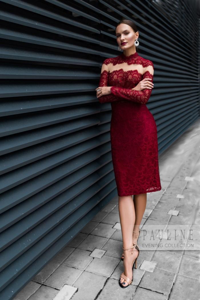 Кружевное вечернее платье для страстных натур ЛЕДА Миди