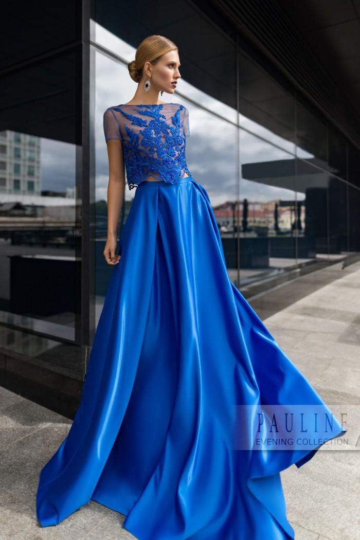 Длинное вечернее платье из шелковистого атласа ЛОНДОН