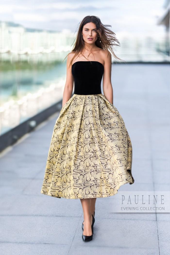 Авангардное вечернее платье - женственная модель в стиле вечных 1950-х НАЙТ