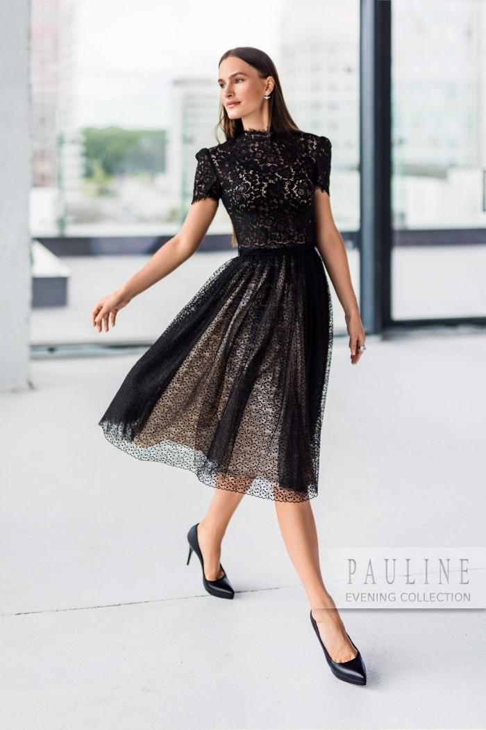 Утонченное вечернее платье выполненное полностью из кружева ПИЛАР Дженнер