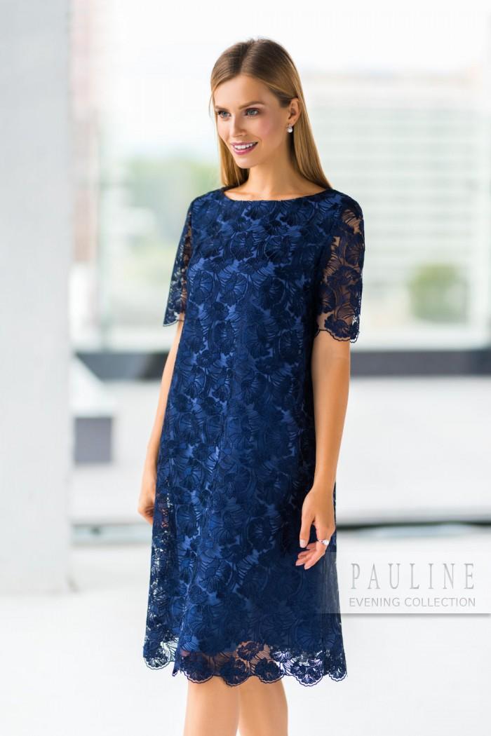 Пронзительно синее двухслойное вечернее платье синего цвета ТРИШ Элс