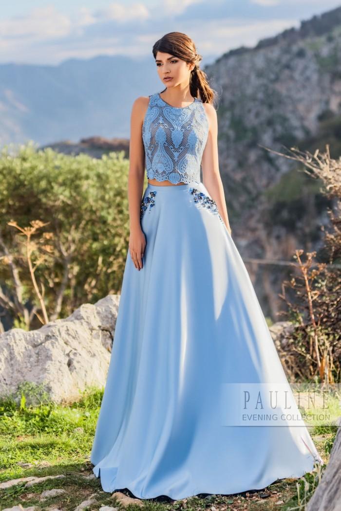 Изысканное платье со сверкающими кристаллами в отделке АЛЬПЫ