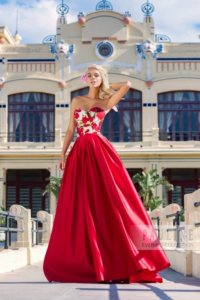 Страстное вечернее платье с экстравагантным принтом АРГЕНТИНА