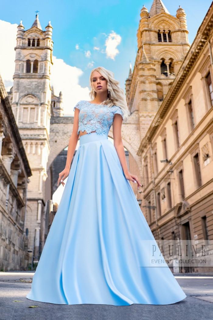 Эффектное вечернее платье с волшебными узорами ДАНИЯ