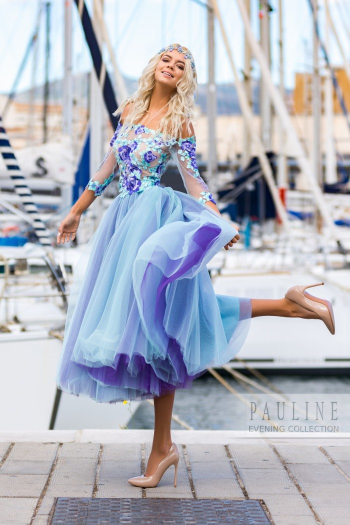 Красивое вечернее платье с воздушной юбкой ДОМИНИКАНА