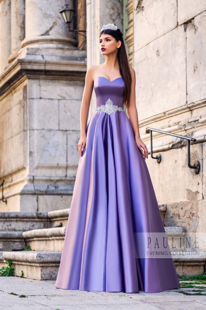 Чудесное вечернее платье из сияющего атласа ЭДИНБУРГ