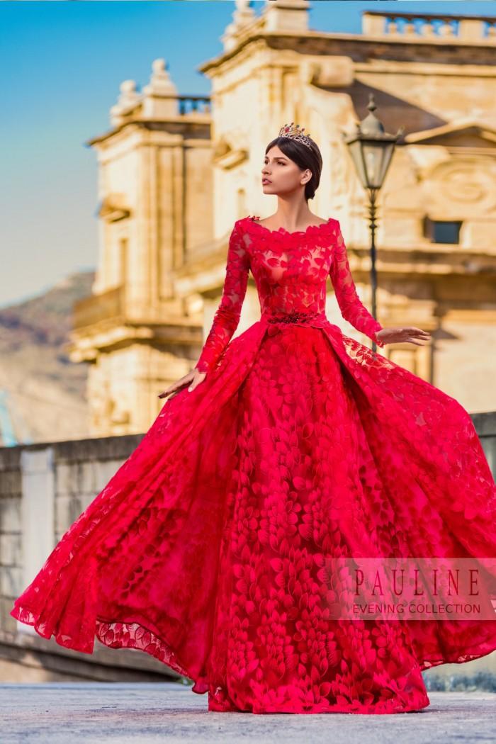 Кружевное вечернее платье волнующего силуэта МОСКВА