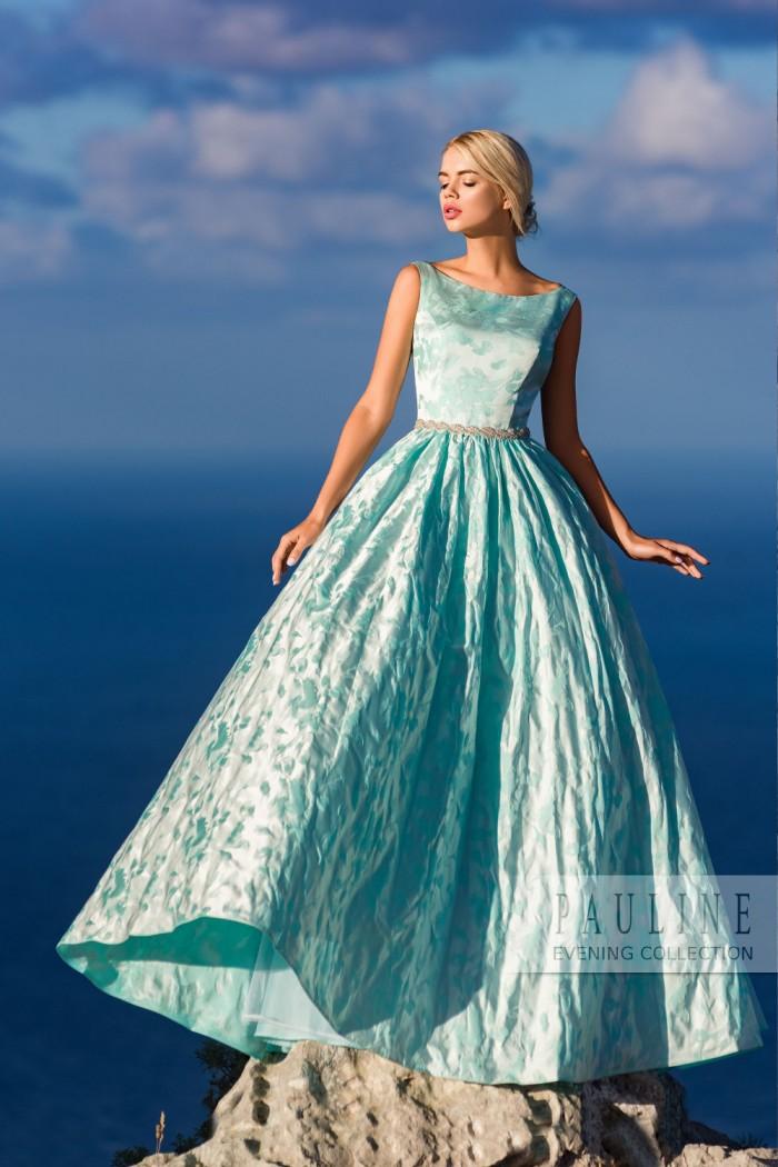 Классическое вечернее платье с необузданно широкой юбкой НИАГАРА