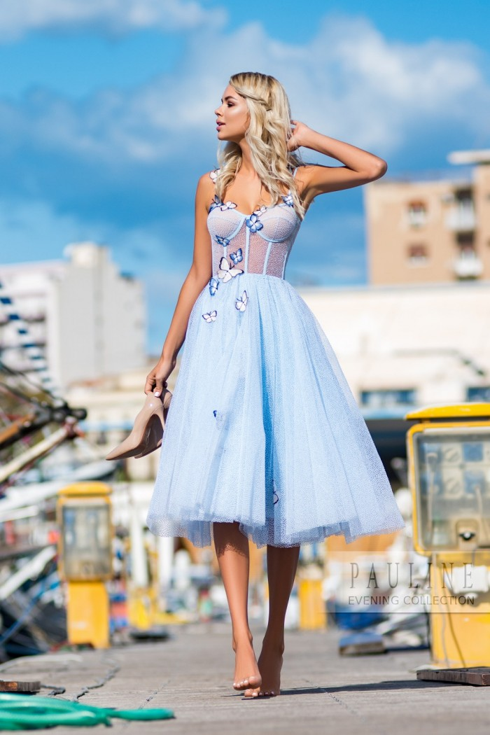 Вечернее платье с легчайшим корсетом и пышной юбкой ПОРТОФИНО