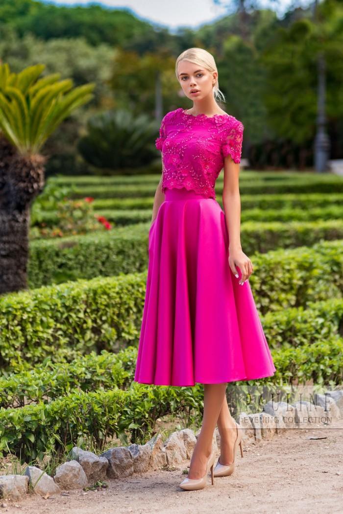 Изящное вечернее платье с цветочной вышивкой ТАЙПЕЙ