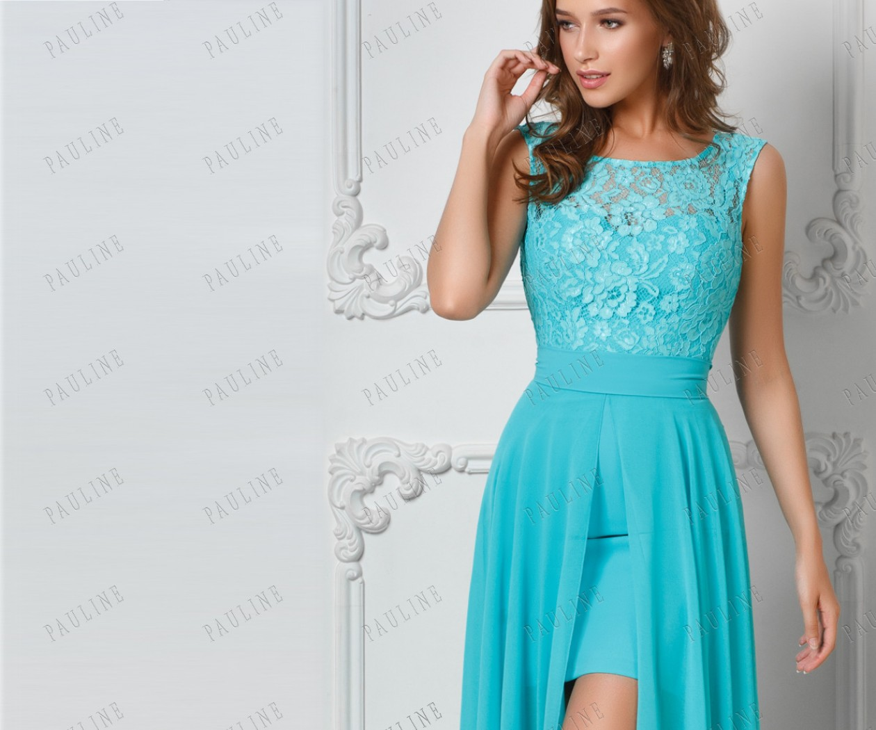 Платье трансформер гипюр