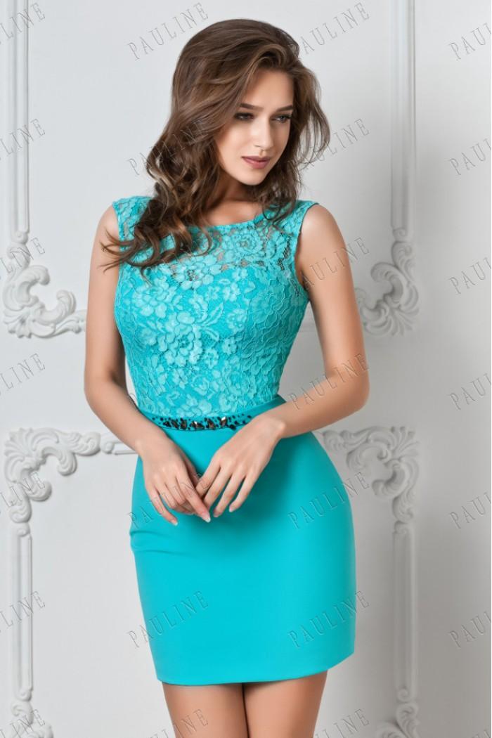 Модное вечернее платье длины мини ДАБЛ ПРИМ