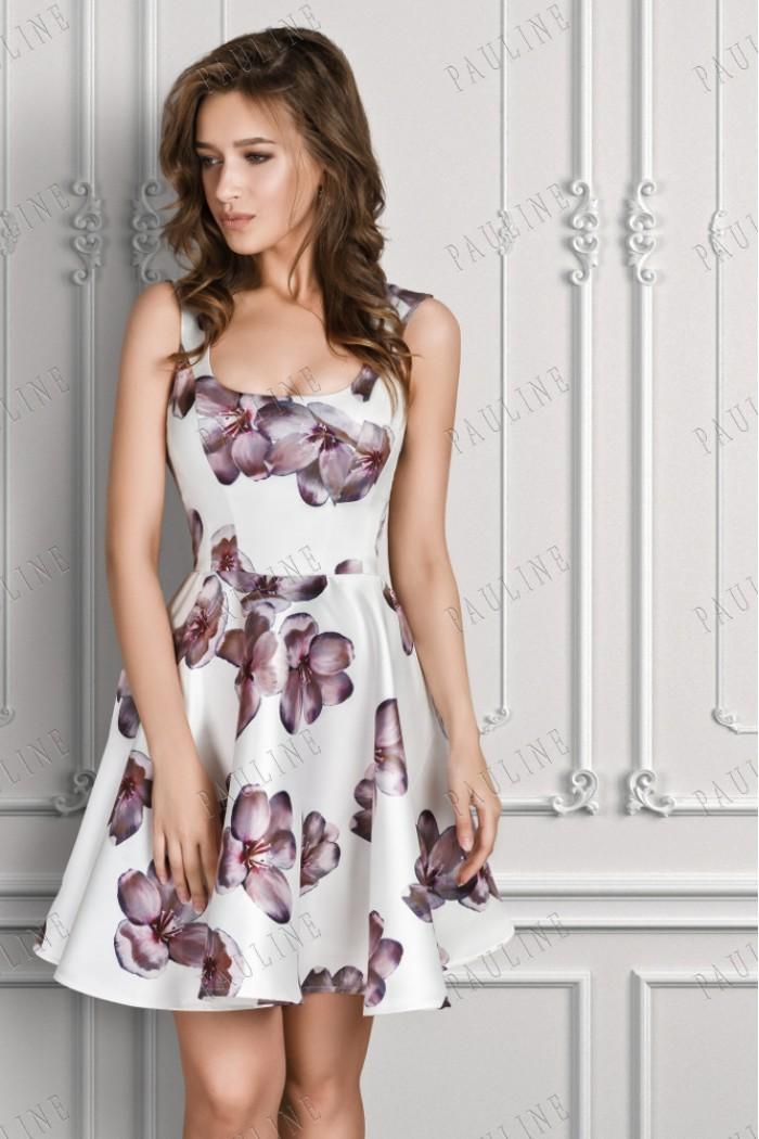 Приталенное вечернее платье с широкой юбкой ИНСАРА