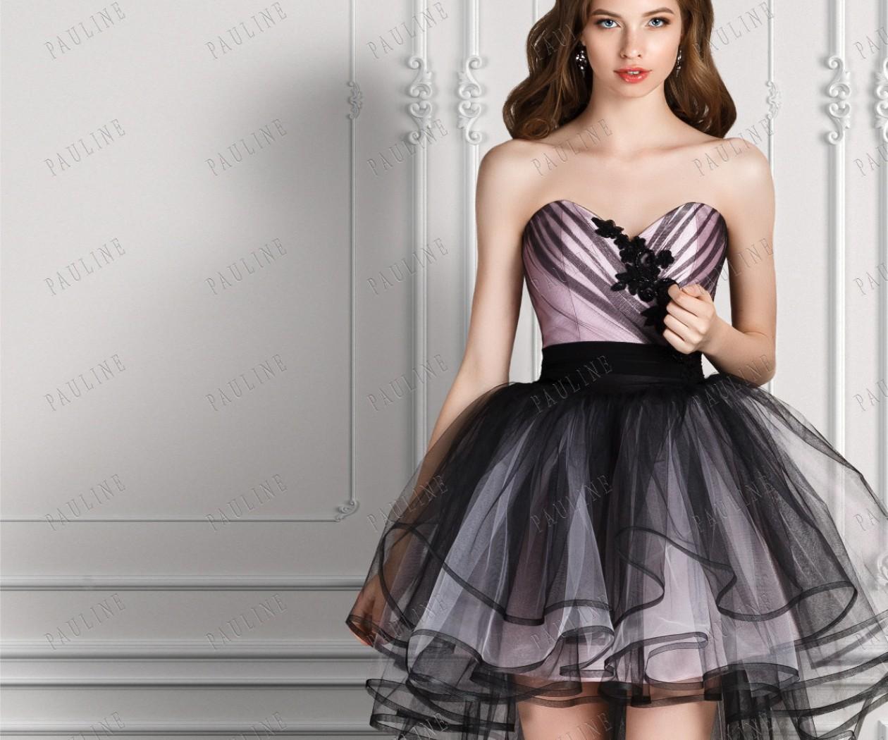 Вечернее платье короткое спереди