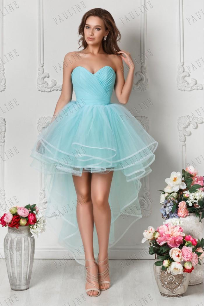 Нежное и легкое вечернее платье с пышной юбкой МУССОН