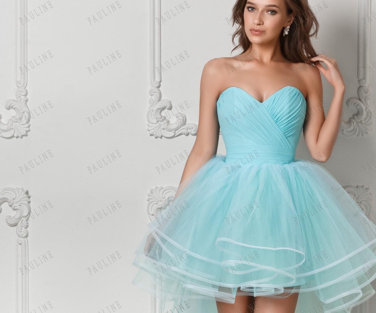 Платья с двумя юбками на выпускной