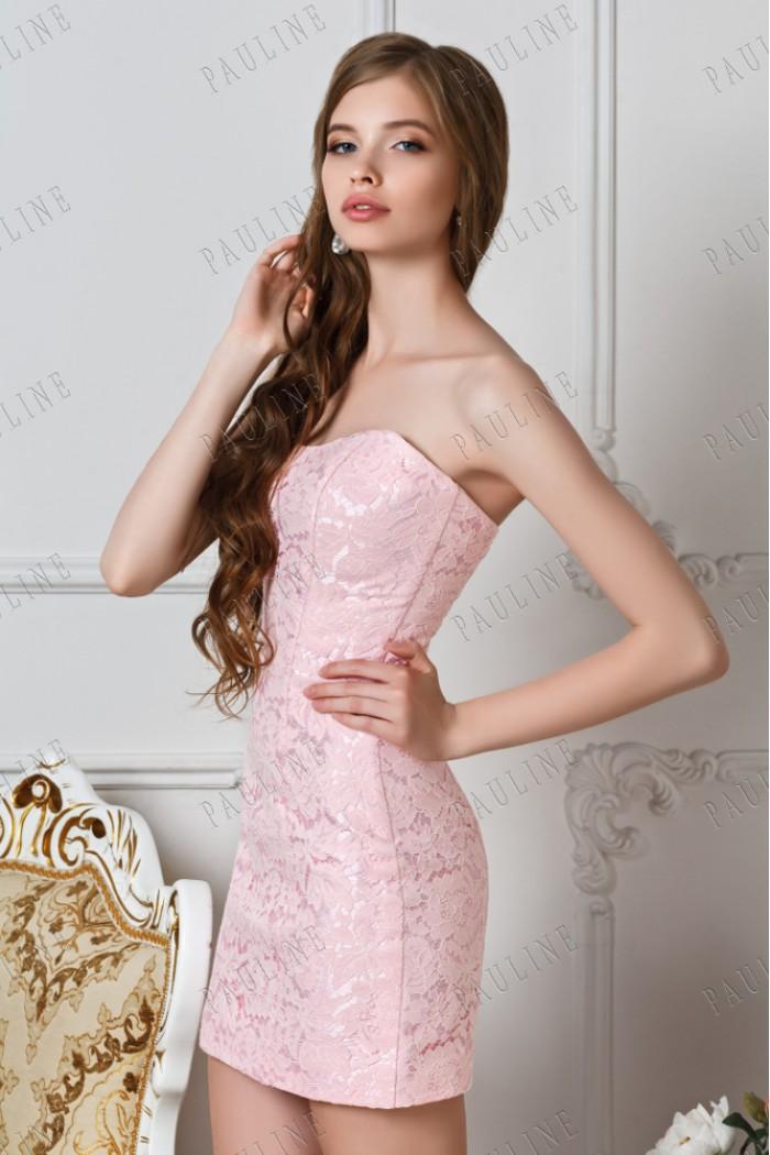 Нежное розовое платье трансформер со съемной юбкой СЕНЕКА Комплект