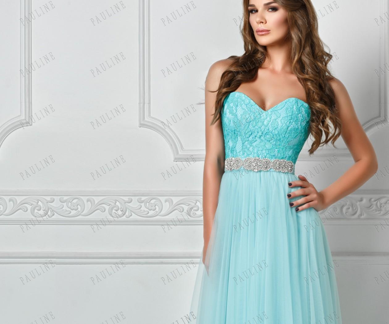 Длинное роскошное вечернее платье с гипюровым лифом ЧУДНОЕ
