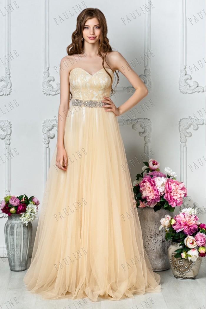 Великолепное длинное вечернее платье с декольте ЧУДНОЕ