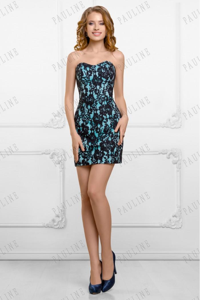 Эффектное кружевное платье трансформер с прозрачной юбкой КАПРИЧЕ