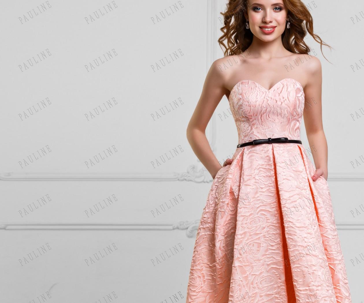 Красивое вечернее платье длины миди ДЖЕММА